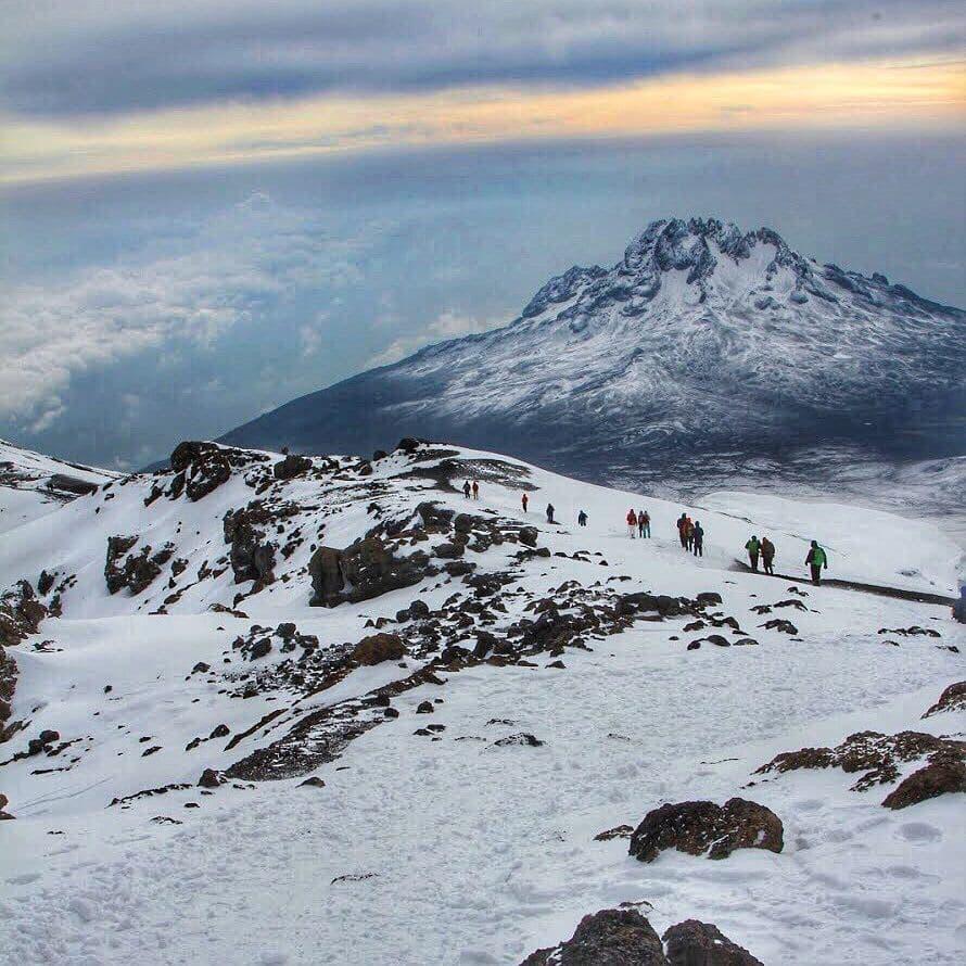 Besneeuwde Kilimanjaro