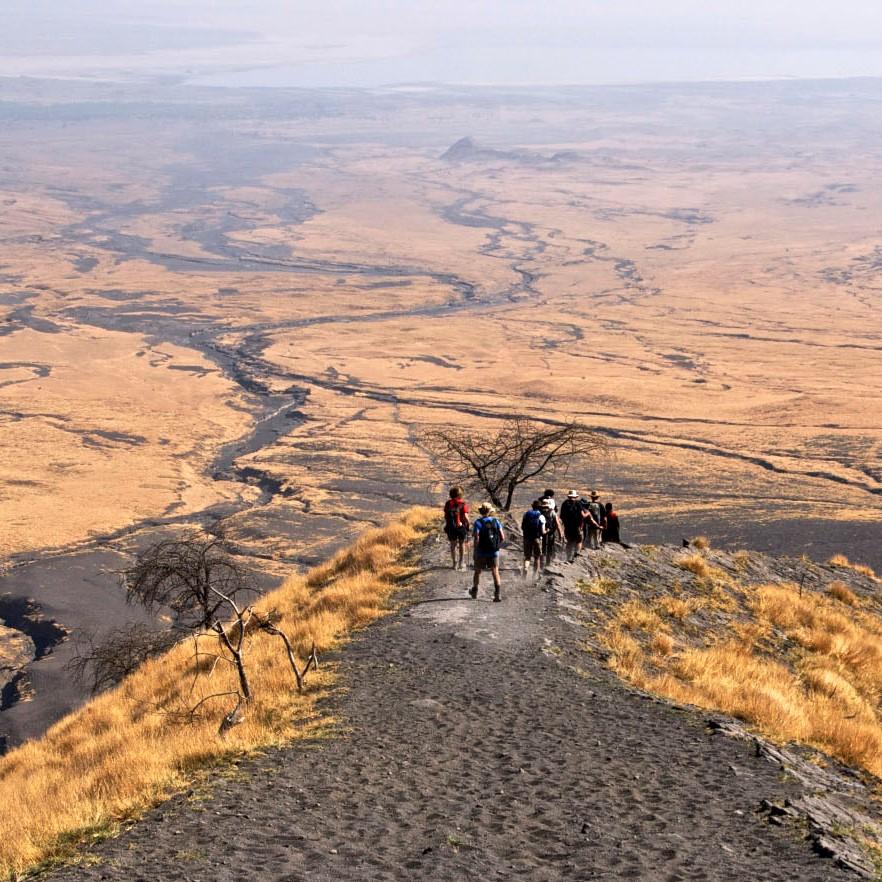 Trekkken in de Ngorongoro hooglanden