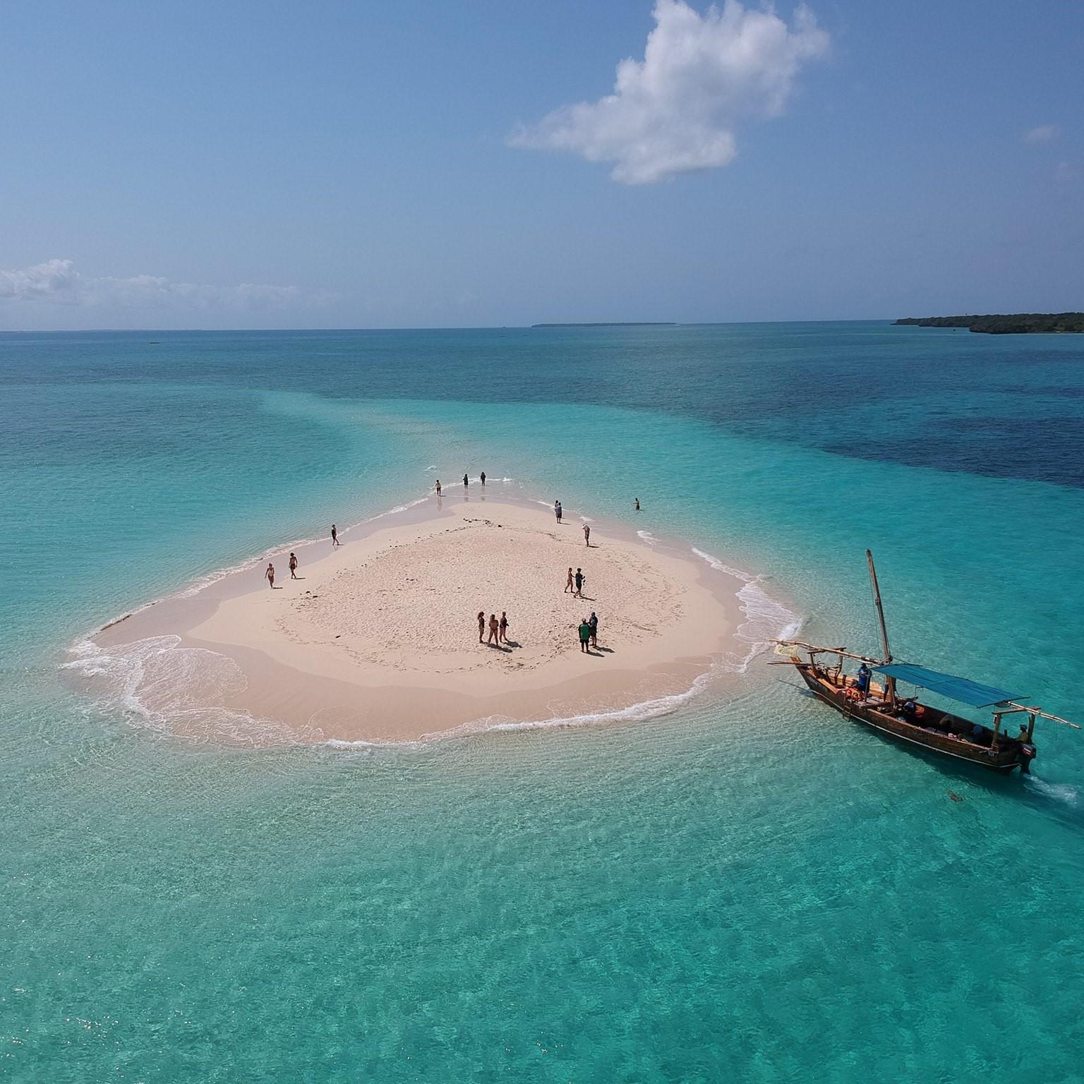 Zandbank voor Zanzibar